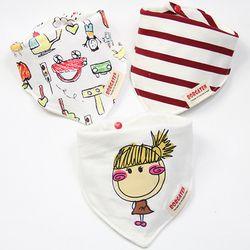 3 Pcs Tinggi Kualitas Fashion Merek Baru Lahir Bayi Lap Tahan Air Anak-anak Perempuan dan Anak Laki-laki Cotton Segitiga Anak-anak Feeding Aksesoris
