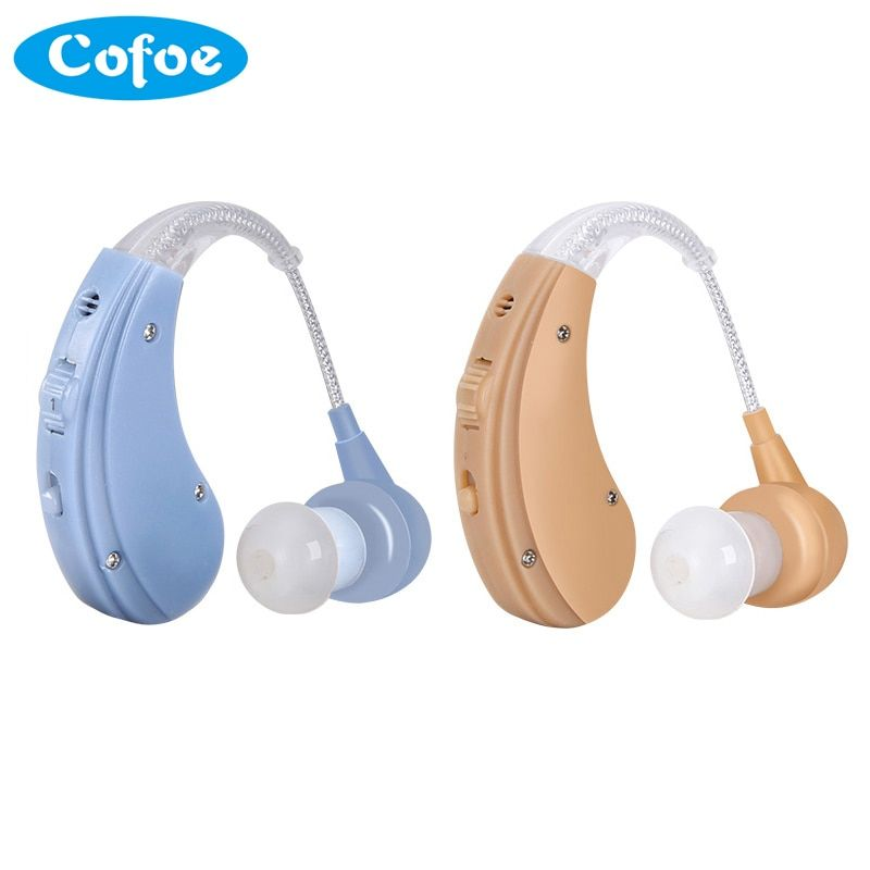 Cofoe Rechargeable BTE Hearing Aid for The Elderly / Hearing <font><b>Loss</b></font> Sound Amplifier Ear Care Tools 2 Color Adjustable Hearing Aids