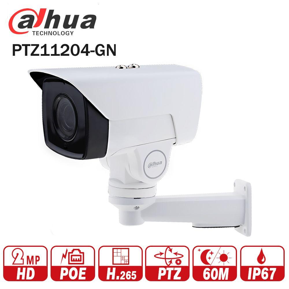 Dahua PTZ11204-GN 4X PTZ IP Camera 2MP POE bullet Motorized 2.8-11.2mm H.265 IR 60M IP67 Bracket CCTV Security DH-PTZ11204-GN