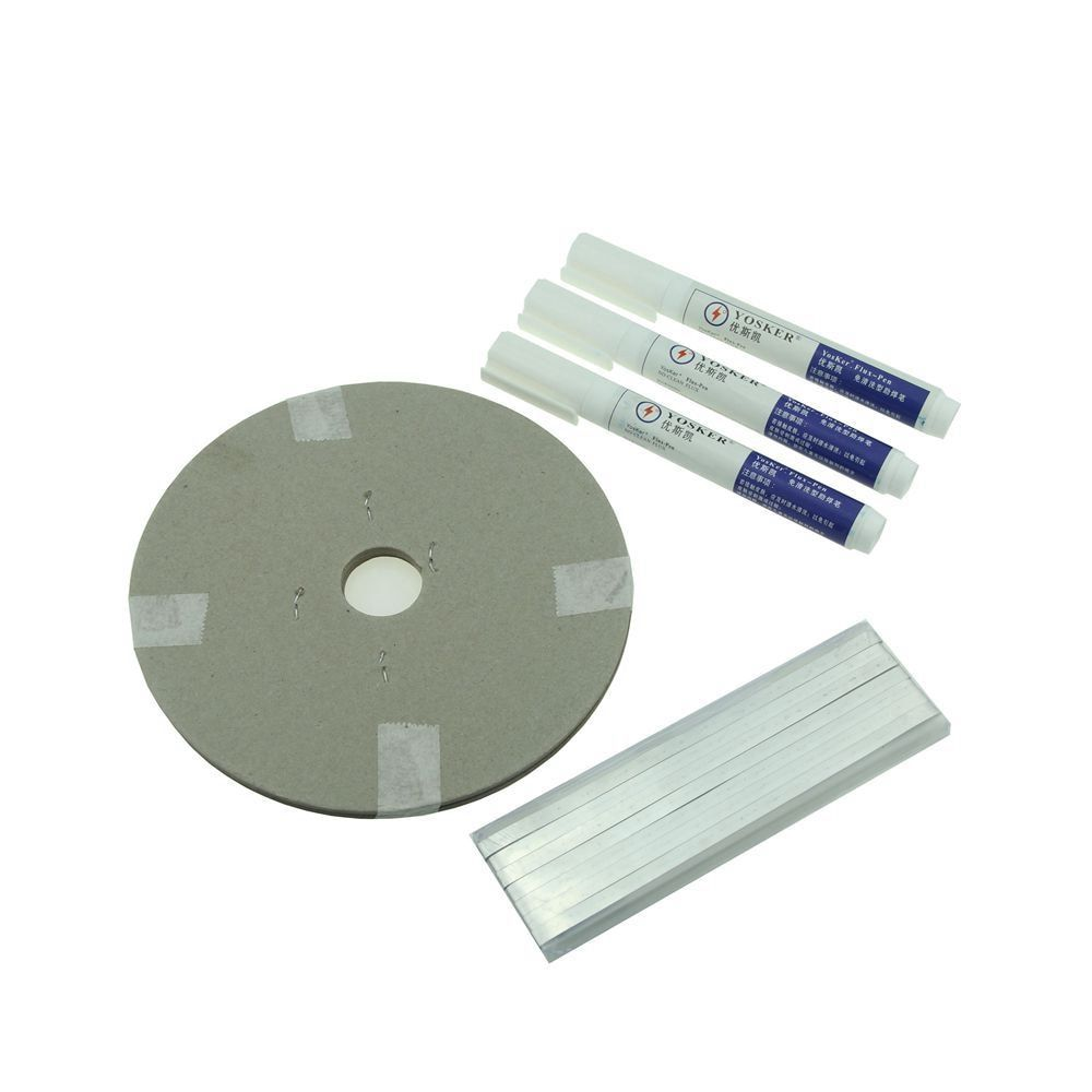 Solar Cell PV Ribbons <font><b>Strip</b></font> 60M Tabbing Wire + 6M Busbar Wire Tape + 3 Pcs Flux Pen For DIY Solar Panel Soldering
