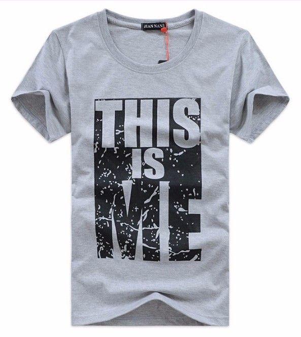 Это меня Лето Для мужчин футболка Повседневное хлопковая Футболка Для мужчин короткий рукав Slim Fit О-образным вырезом Футболки для девочек с ...
