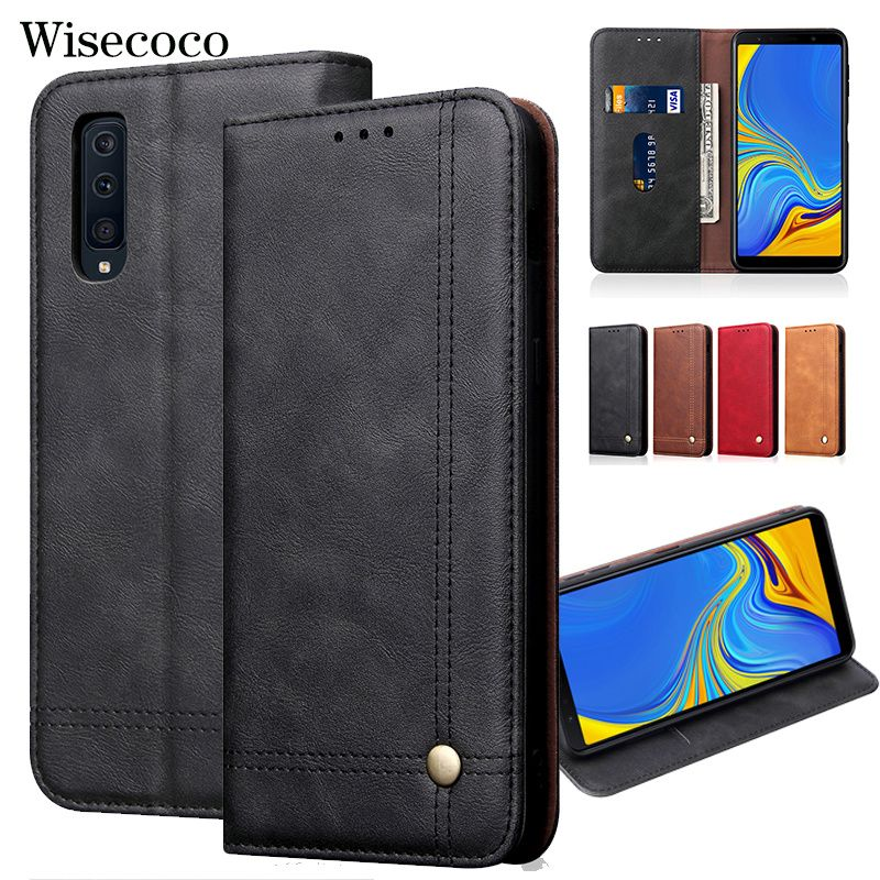 Flip Case for Samsung Galaxy A7 2018 A750 Hoesje Luxury Leather Wallet Stand Card Holder Magnetic Book Mobile Phone Cover A750f
