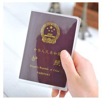 Transparent Couverture Du Passeport sur Étanche Document Sacs Passeport Manchon De Protection