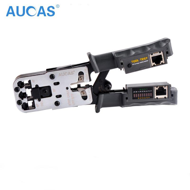 AUCAS Haute Qualité RJ11 RJ45 Multifuction À Sertir Réseau Pince À Sertir Piler Outils Portable LAN OUTIL À Sertir Prise Pince PC
