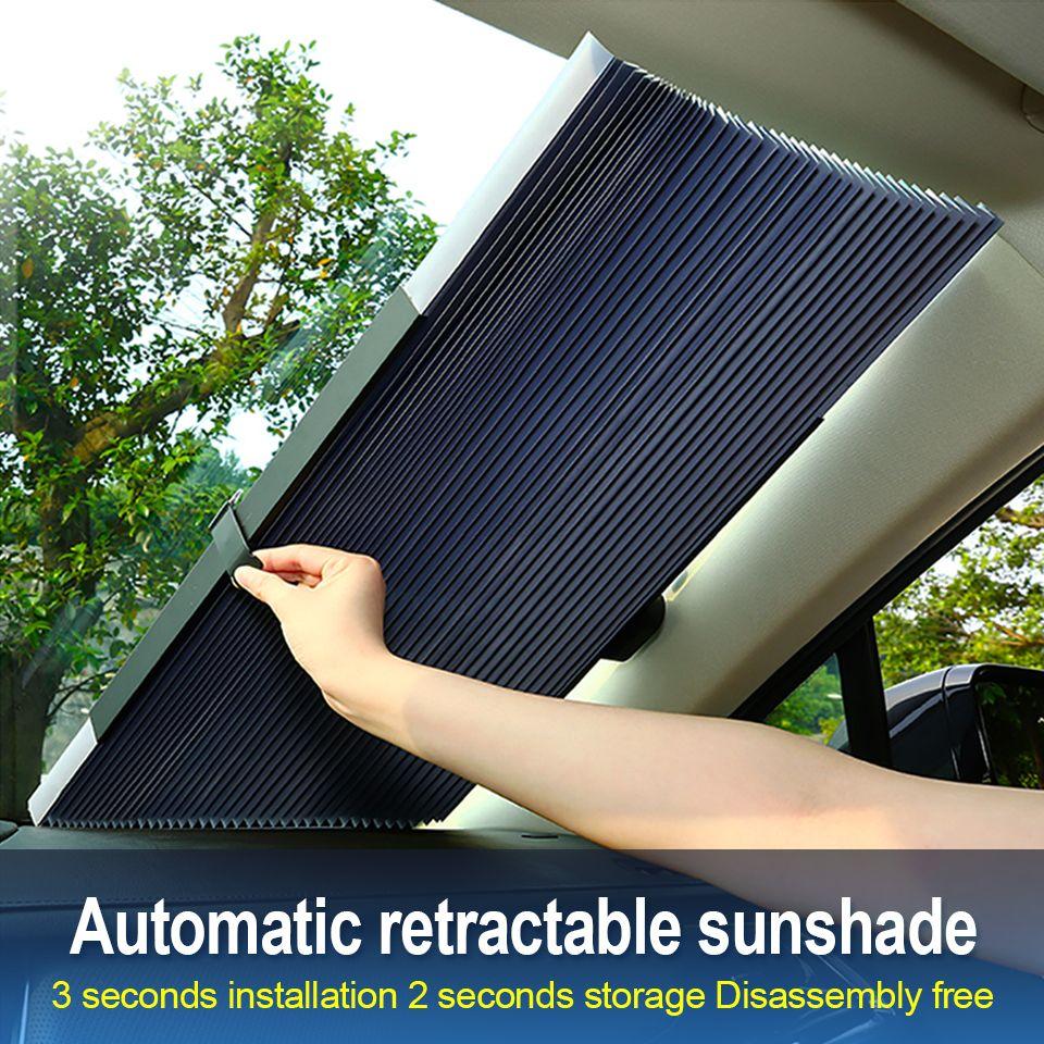 Pare-soleil de fenêtre de voiture pare-brise pliable rétractable pare-brise couverture bouclier rideau Auto pare-soleil bloc Anti-UV pare-brise de voiture