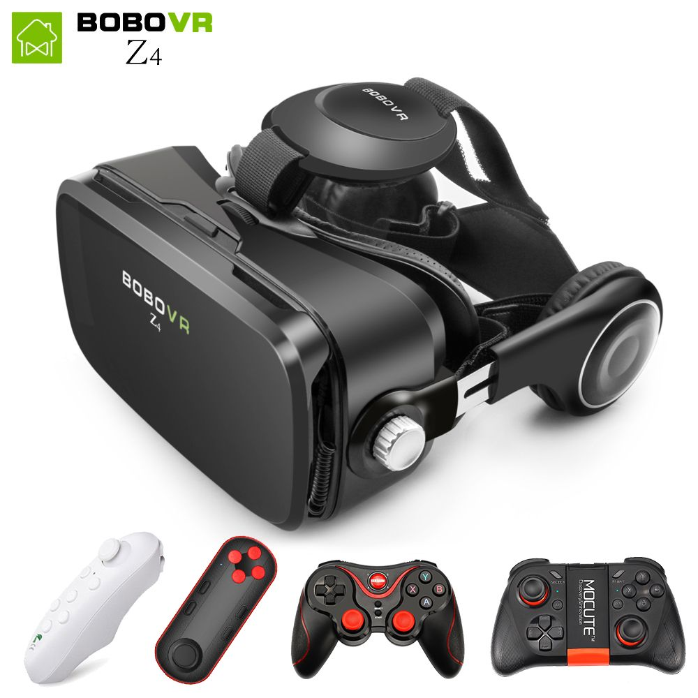 BOBOVR Z4 mini VR Box 2.0 3d glasses Virtual Reality goggles Google cardboard bobo vr z4 vr headset for 4.3-6.0 inch <font><b>smartphones</b></font>