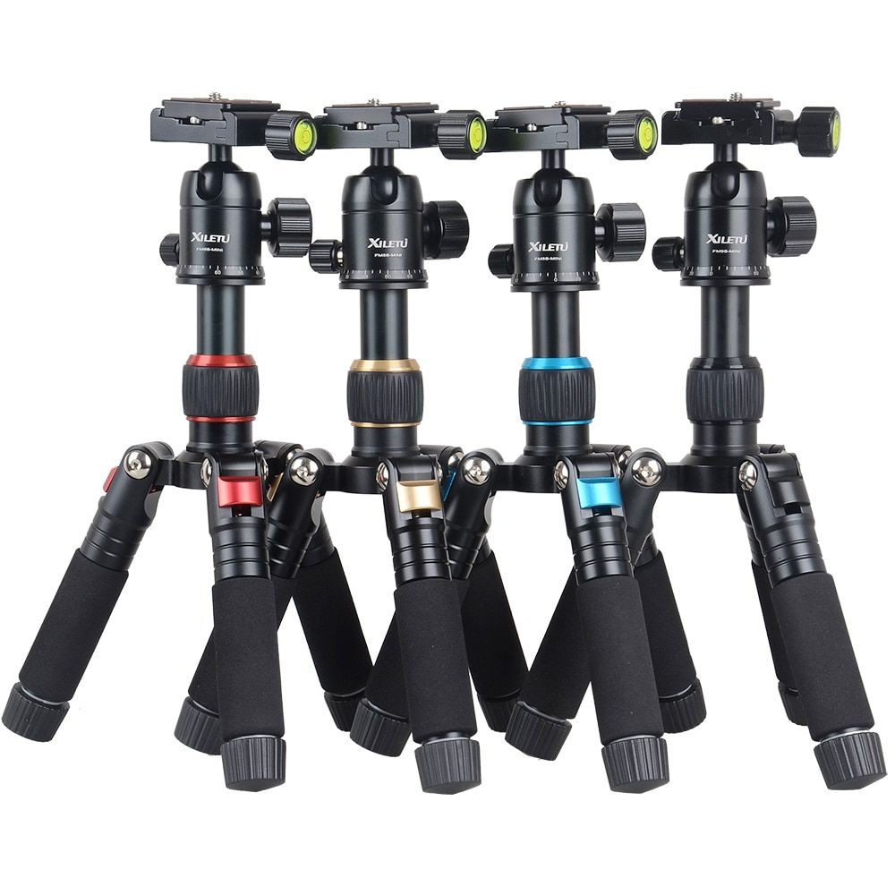 CimaPro FM5S-MINI Aluminum Portable Stable Desktop Mini Tripod For Outdoor Macroshot Travel Digital Camera Smartphone