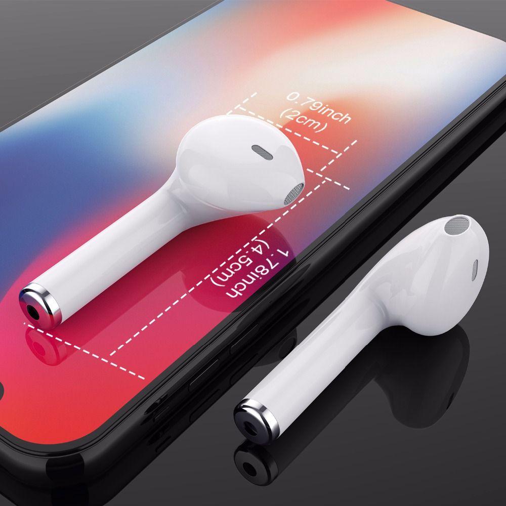 GETIHU Mini Bluetooth Earphone Headphone Phone Sport Headset Earpiece Stereo <font><b>Wireless</b></font> Earphones Headphones For iPhone 7 8 X