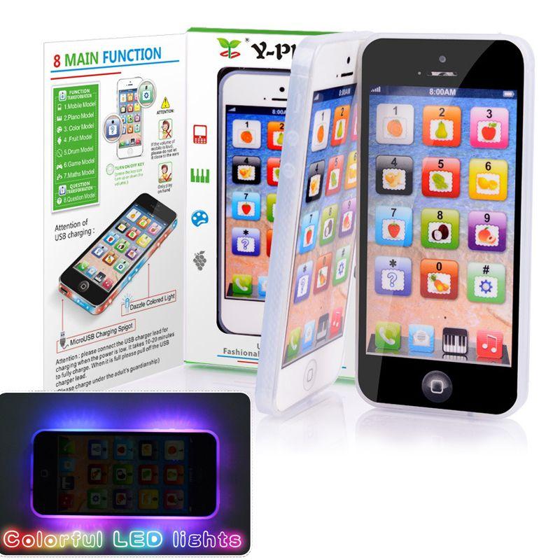 Y-phone Apprentissage de L'anglais Téléphone Portable avec LED Enfant Enfant Jouet Téléphone Portable Bébé Mobiles Premier Puzzle Éducatif Jouet Électronique téléphone