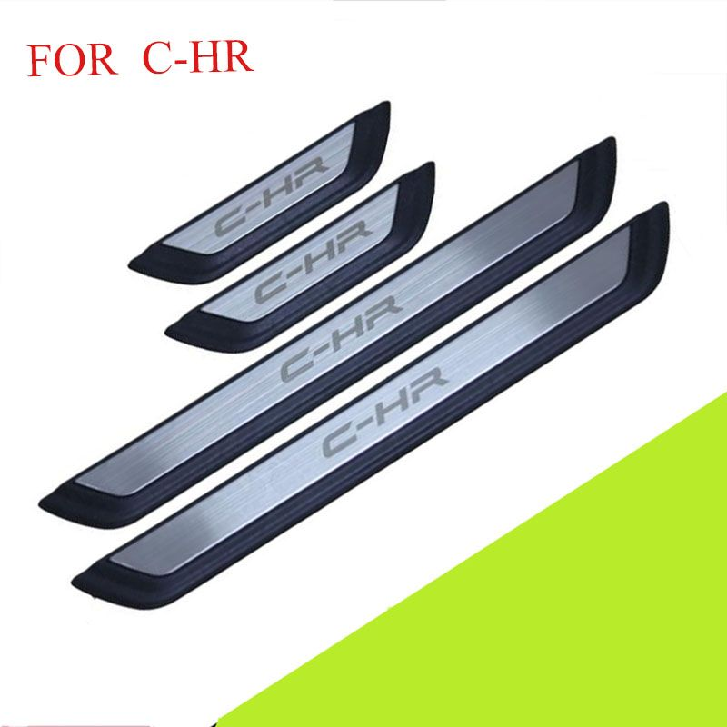 FIT For C-HR 2016 2017 2018 Door Sill Scuff Plate Welcome Pedal Stainless Steel Car Styling Accessories FOR CHR