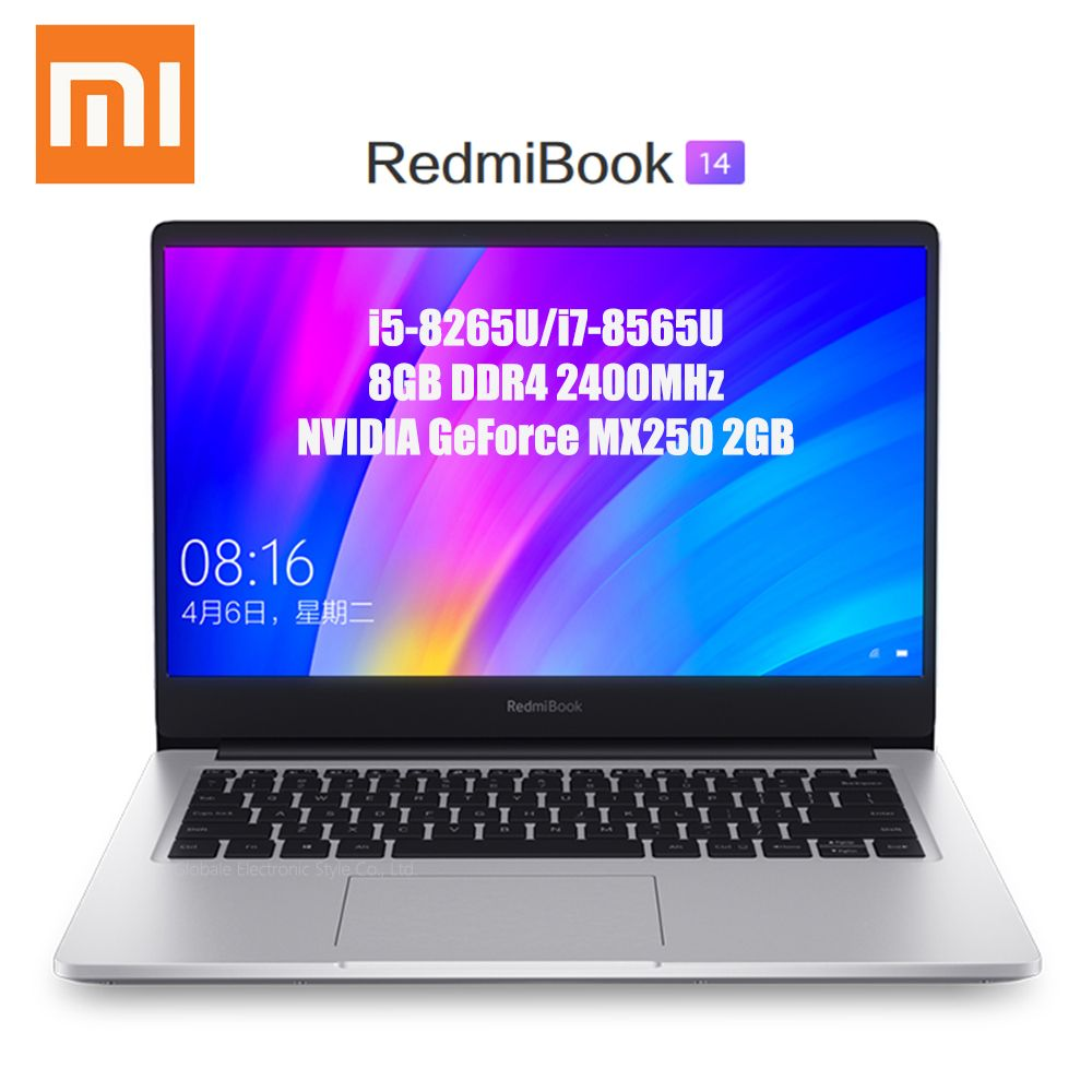 Xiaomi Redmibook 14 Laptop Intel Core i5-8265U/i7-8565U 8 GB DDR4 2400 MHz RAM NVIDIA geForce MX250