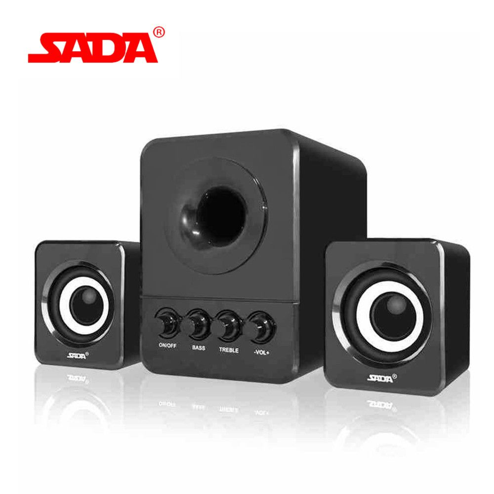 SADA D-203 Wired Combination Speaker Suitable for Laptop Desktop Computer Mobile Phone Notebook USB2.1 Bass Cannon Speakers