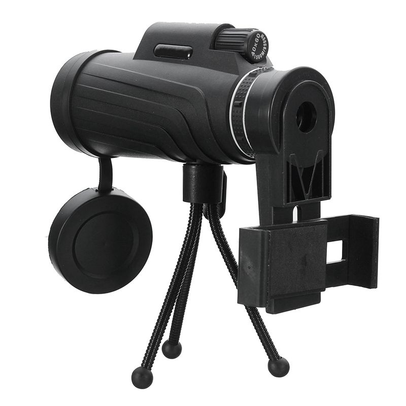 <font><b>Best</b></font> Deals 40X60 HD Zoom Lens Two Types Waterproof Monocular Telescope for Mobile Phones for Outdoor Hunting Bird Watching