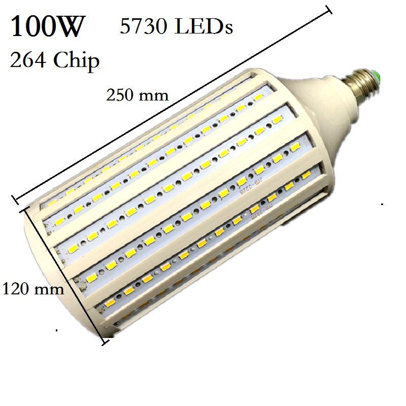 Super lumineux 5730 50 W 60 W 80 W 100 W lampe à LED E27 B22 E40 E26 85-265 V ampoules de maïs pendentif éclairage lustre plafonnier