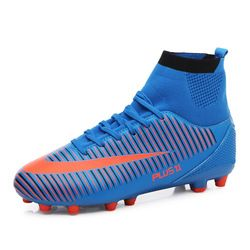 Adult Futsal Soccer Shoes Cleats Indoor Turf Soccer Training Sneakers High Ankle Football Boot Superfly Original Sport Shoes Men