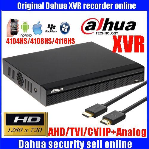 Dahua mutil languag XVR video recorder XVR4104HS XVR4108HS XVR4116HS 4ch 8ch 16ch 720 P dvr Unterstützung HDCVI/AHD/TVI/CVBS/Ip-kamera