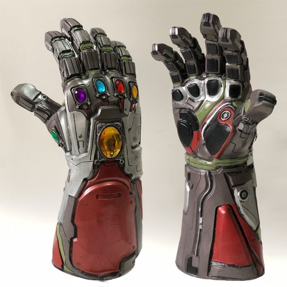 Avengers 4 Endgame Iron Man Infinity Gauntlet Hulk Cosplay Arm Thanos Latex Gloves Arms Mask Marvel Superhero Weapon Party Props