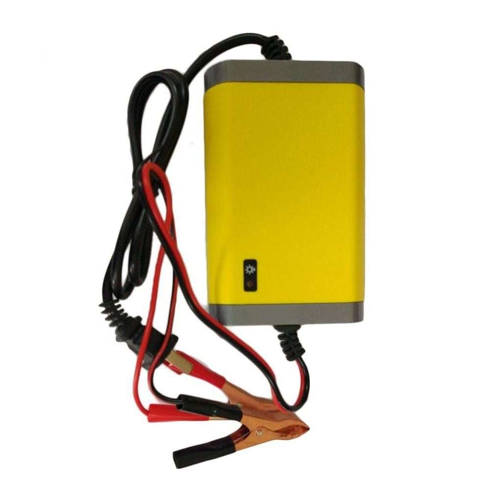 Портативный США Plug автомобилей Батарея Зарядное устройство 12 В 2A полностью Автоматический Автомобиль Мотоцикл Батарея Зарядное устройств...