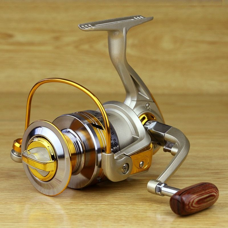 Free shipping yellow 10BB Spool Aluminum Spinning Fishing Reels For Front Drag Baitcasting Spinning Reel Coil
