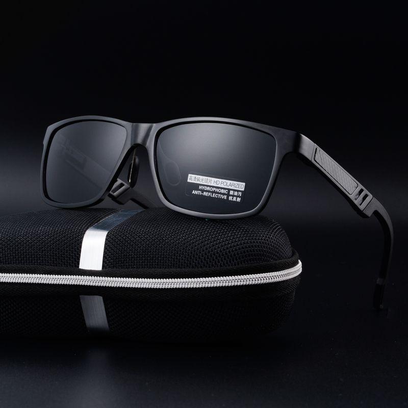 Óculos Для мужчин солнцезащитные очки Алюминий магния Dazzle цвет Polariscope драйверы вождения очки линзы Óculos де золь