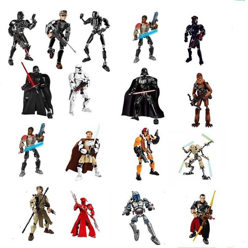StarWars building blocks Darth Vader Storm Trooper General Grievous Elite Praetorian Guard Figure toys compatible with Legoingly