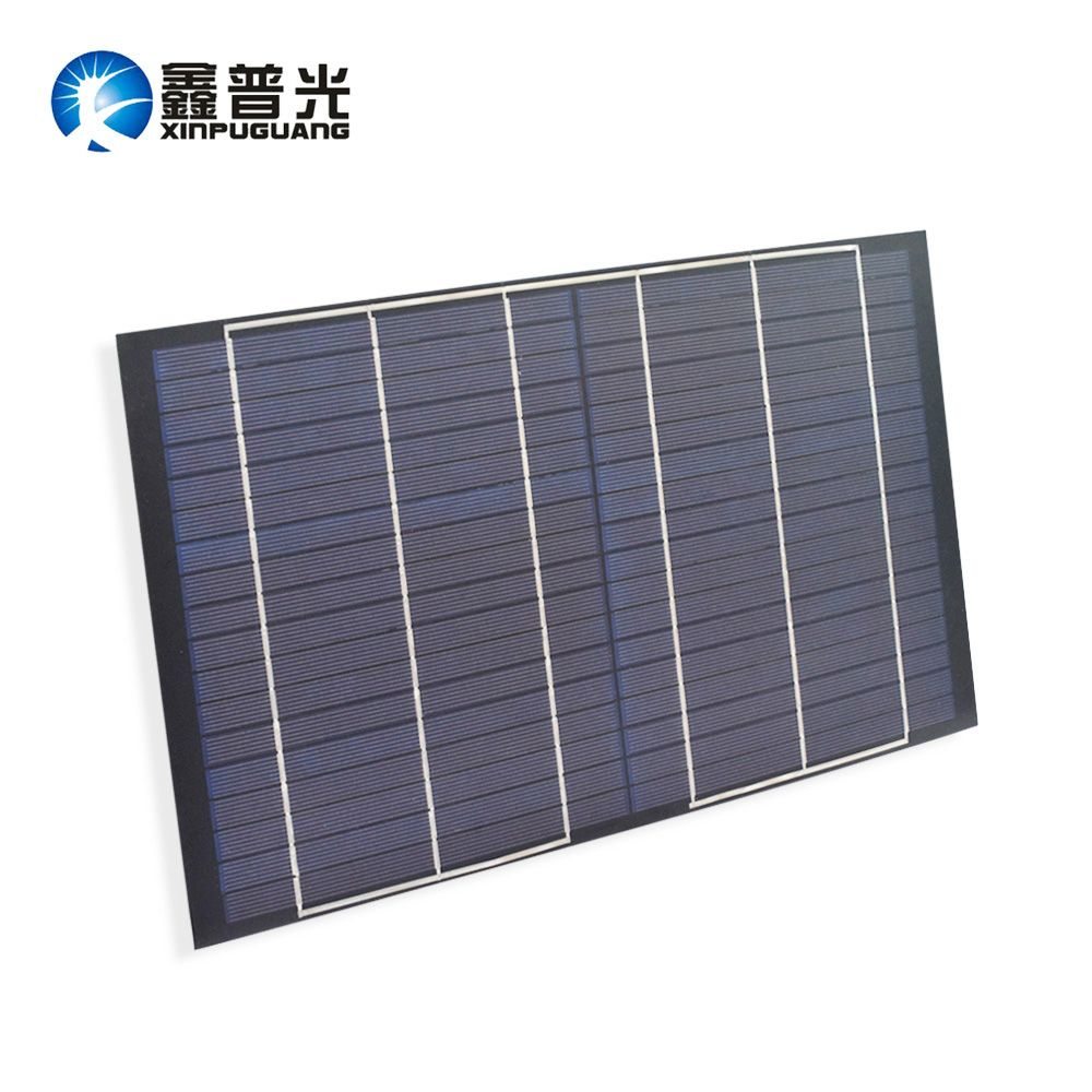 Xinpuguang 10W Solar Panel 18V Mini PET Polycrystalline PV Module Cell Charge for 12V Battery Light Beautiful Durable Portable