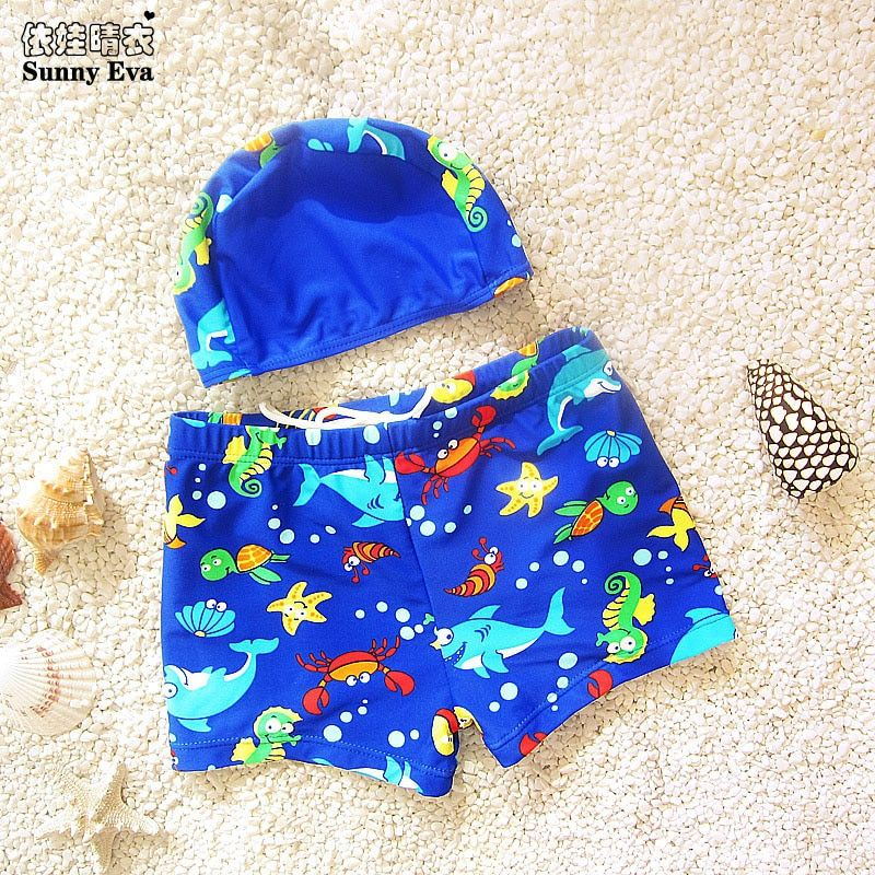 sunny eva boys character swimwear shorts 2017 kids swimwear boy swimming trunks separate children's swimwear Boys Summer bathing