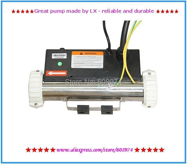 Spa heater 3kw 3000w LX H30R1 H30-R1 bathtub heater with flow switch and fittings