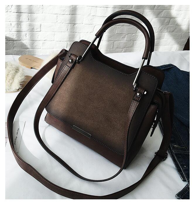 Cuero de la PU de las mujeres del bolso de la vendimia breve bolso de la manera de las mujeres bolsa de mensajero ocasional hombro lindo T-5985WQ