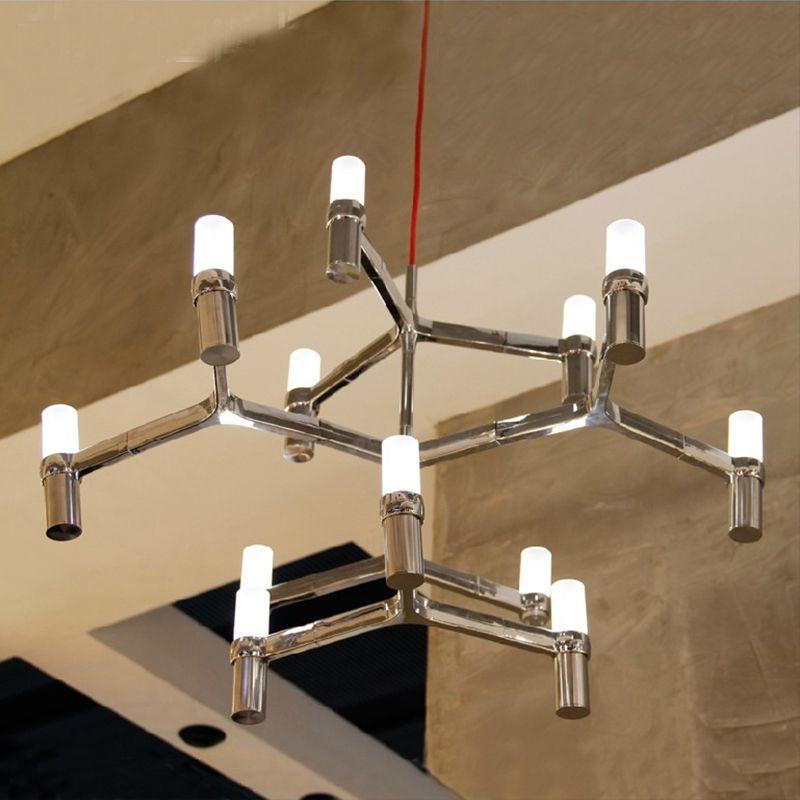Design lampe anhänger beleuchtung KRONE GROßEN Duplex Villa anhänger beleuchtung für restaurants 12 Köpfe 3 schichten Kerze Anhänger Licht