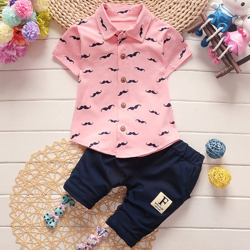 Bear Leader Kids Clothing Sets 2018 New Style Baby Clothing Sets Mustache Design Clothes+Pants 2Pc Children Clothing For 12M-3Y