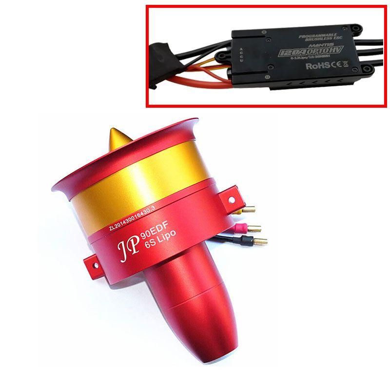 EDF металлический импеллер JP 90 мм EDF ESC комплект с тремя выбор Двигатель: 4250 kv1750 Двигатель (6 S), 4250 kv1330 (8 s), 4250 kv1050 (12 s)