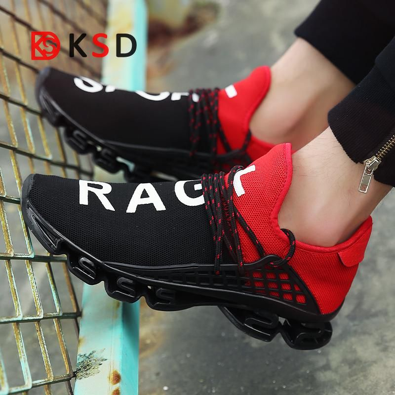 2018 Men Sport Running Shoes Couples Lace-up Exercise Couple Sneakers Breathable Mesh Letter Shoes Size 36-48 Sneakers for Men