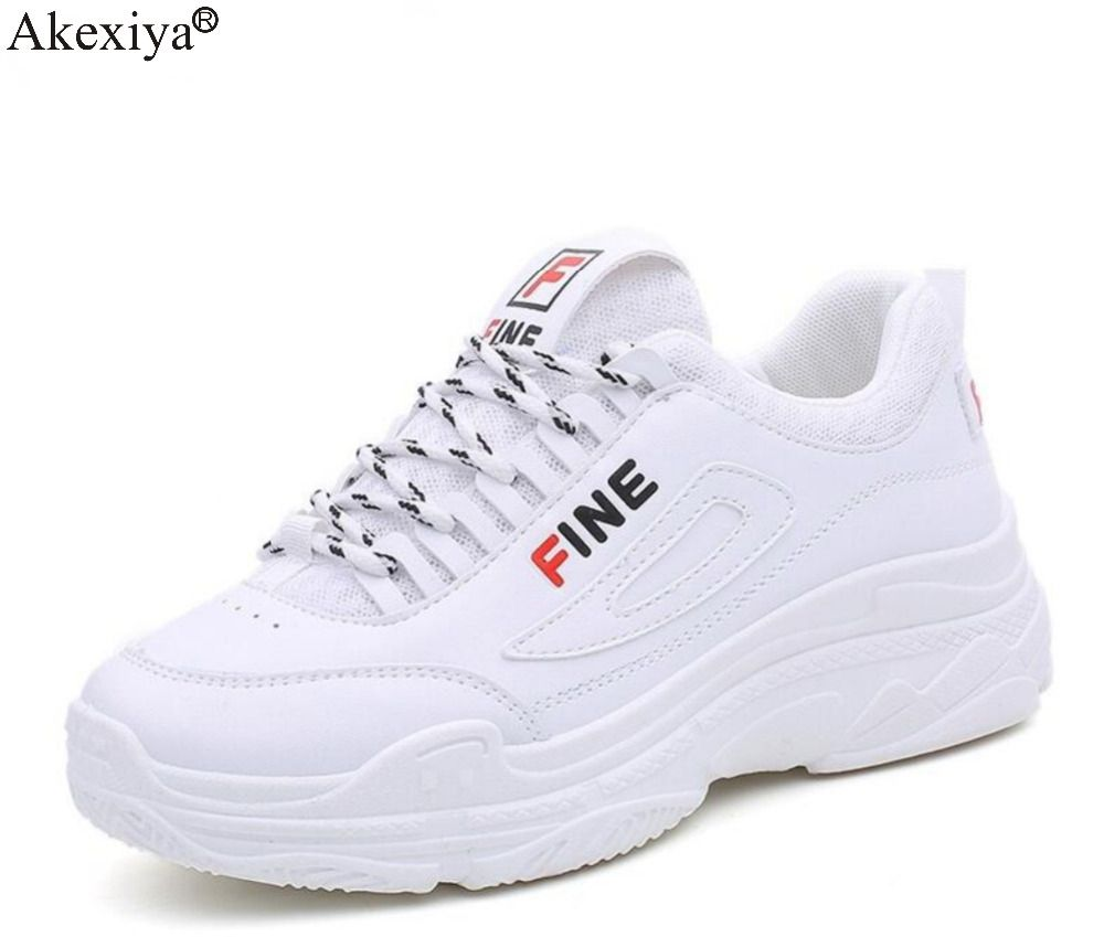 Akexiya New Women Running Shoes Female Sports Shoes Non Slip Damping Summer Mesh Breathable Athletic Training White Run Sneaker