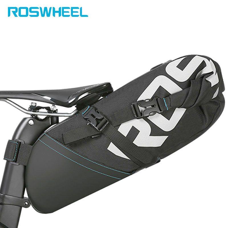 ROSWHEEL Fahrrad Bike Bag radfahren zubehör Hecktasche Wrap-up-touch-schlag-fall Verschluss Volumen Sattelstütze Lagerung Pack MTB Straße Pannier Beutel