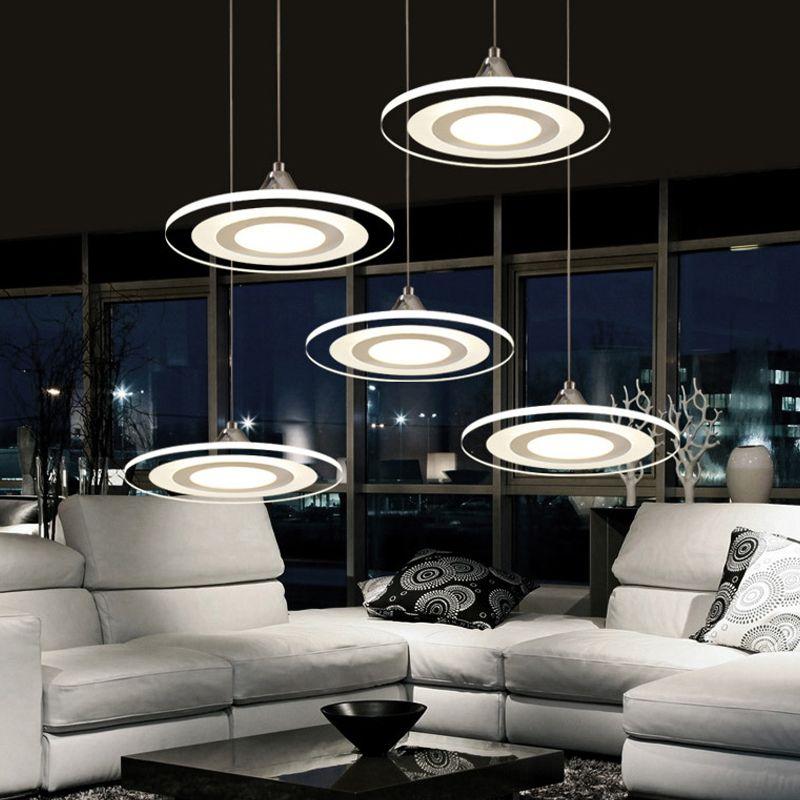 Lampes suspendues cordon lampe salle à manger lustres 90-260 v lustre CE UL pour cuisine LED ventilateur de plafond luminaires suspendus MD3213