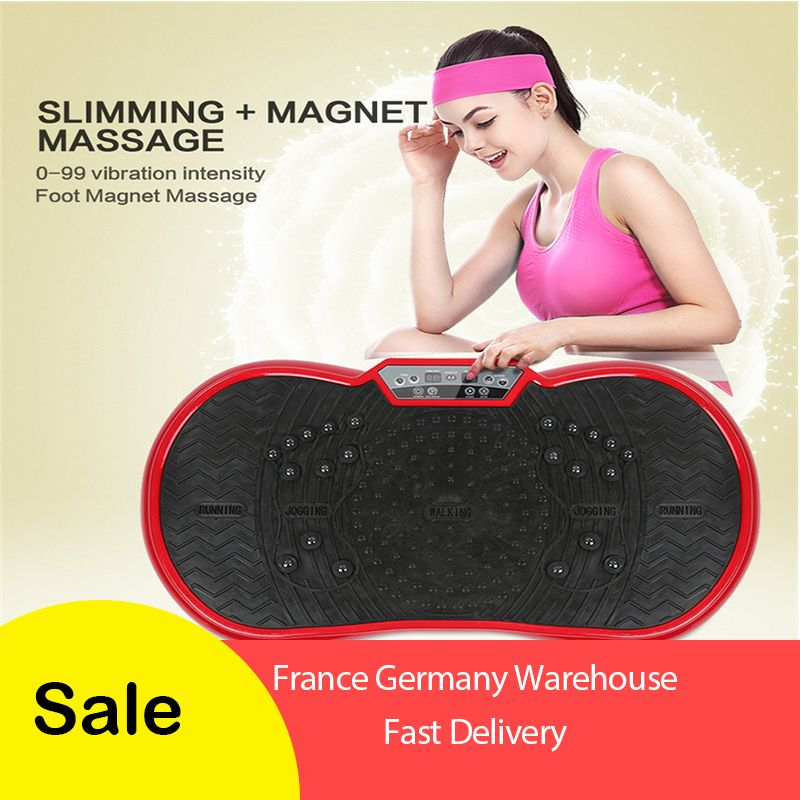 Fat Burning Vibration Plate Fitness Massager Weight Loss Vibrating Power Slimming Device European Regulations With Gift HWC