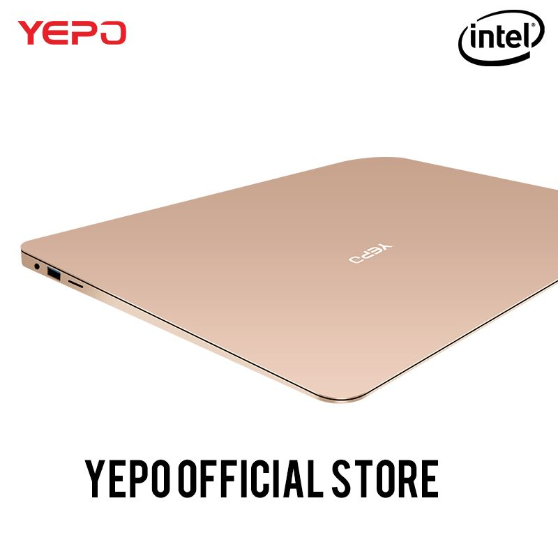 YEPO 737A laptop Apollo 13.3 inch Laptop Intel <font><b>Celeron</b></font> N3450 Notebook gold/grey colour 6GB RAM 64GB eMMC or 128GB SSD 192GB SSD