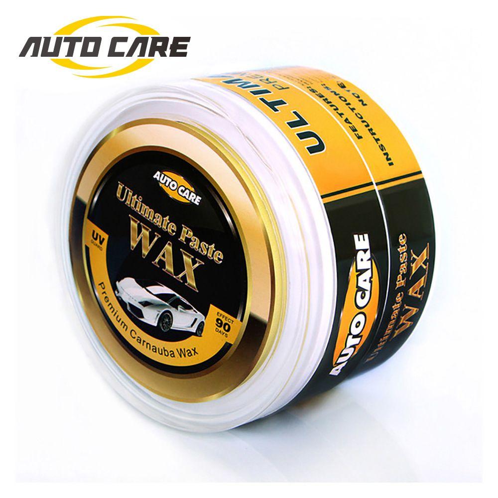 AutoCare Premium Carnauba voiture cire cristal dur cire peinture soin égratignure réparation entretien cire peinture revêtement de Surface éponge gratuite