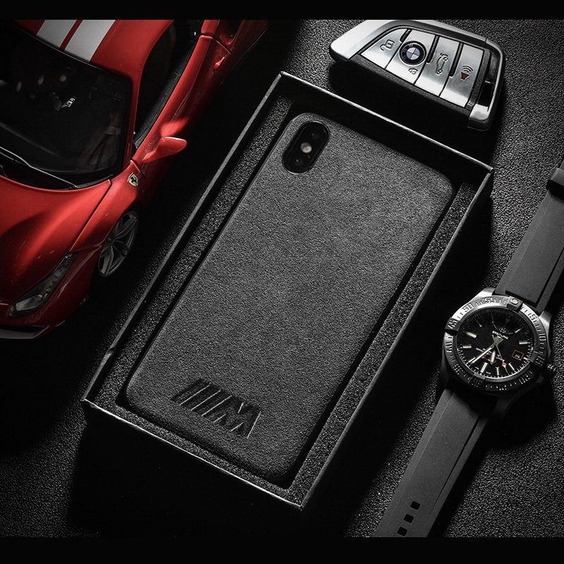 Motorsport AMG Gran Turismo GTR Turn fur cover case for iphone 6 6S plus 7 plus 8 plus X XR XS MAX Luxury car phone leather case