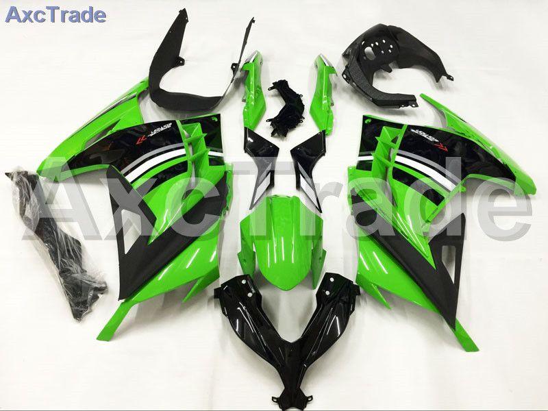 Motorcycle Fairings For Kawasaki Ninja 300 ZX300 EX300 2013 2014 13 14 ABS Plastic Injection Fairing Bodywork Kit Green Black