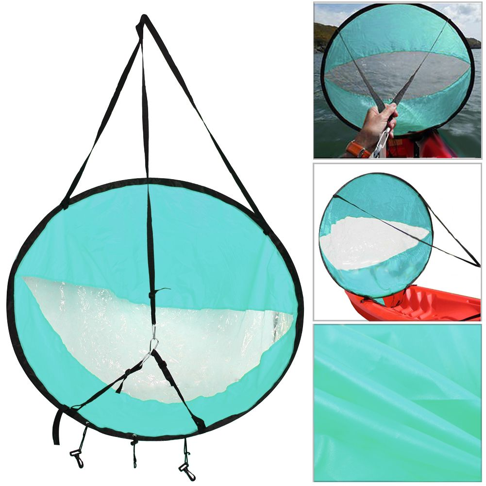 Lightweight 42 <font><b>Kayak</b></font> Rowing Boat Foldable Wind Sail Canoe Sup Durable Paddle Board with Clear Window Drifting Boating Accessory
