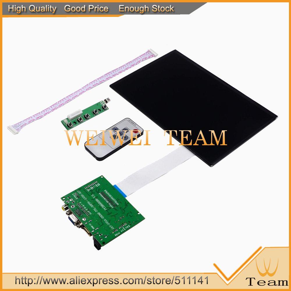 10.1 inch 1920(RGB)*1200(WVGA) FHD Digital LCD Screen Monitor Display HDMI VGA 2AV 2 AV Raspberry Pi Banana Pi With Key Board