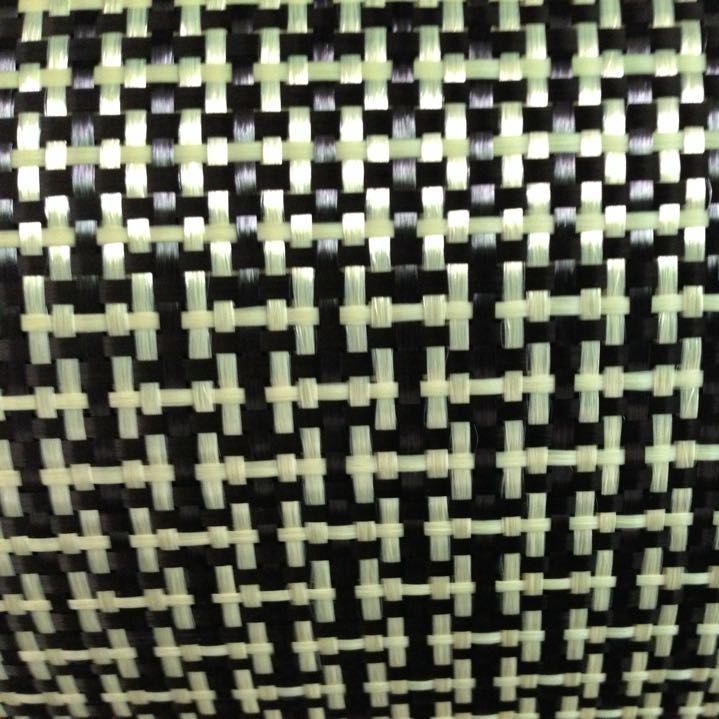 1100D/3 Karat 200gsm Ich Weben Gelb Kevlar und kohlefaser mischgewebe Plain Carbon Kevlar tuch