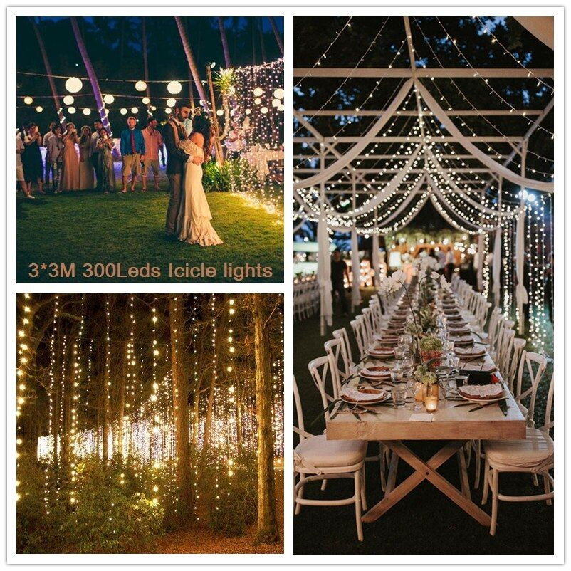 High Quality 3x3M LED Icicle Lights curtain Holiday Fairy String Lights for Outdoor Christmas Garlands Party Wedding Decoration