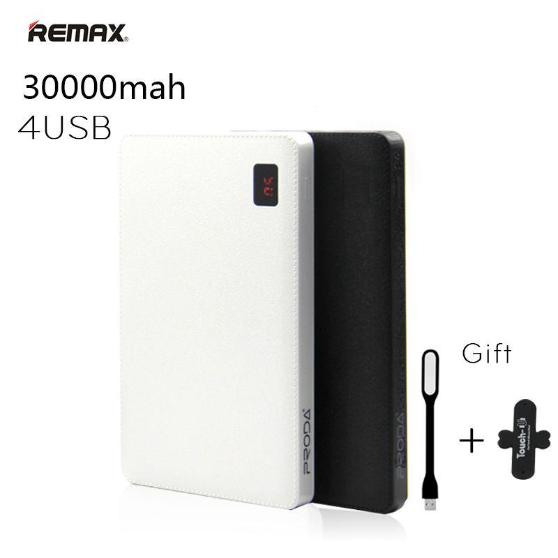 Remax Portable 30000 mah Puissance Banque 30000 mAh Powerbank 4 USB Externe Chargeur de batterie pour iPhone 6 7 plus Pour iPad Mobile Téléphones