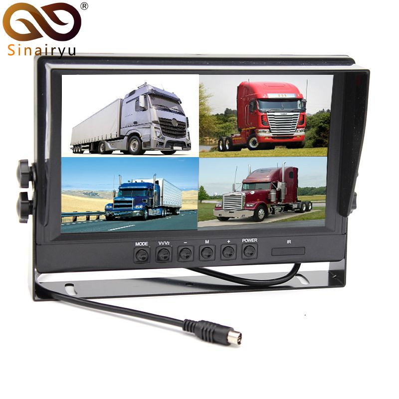 Sinairyu DC 12V/24V 9 Inch Car Parking Monitor With 4CH Video input Monitors 9