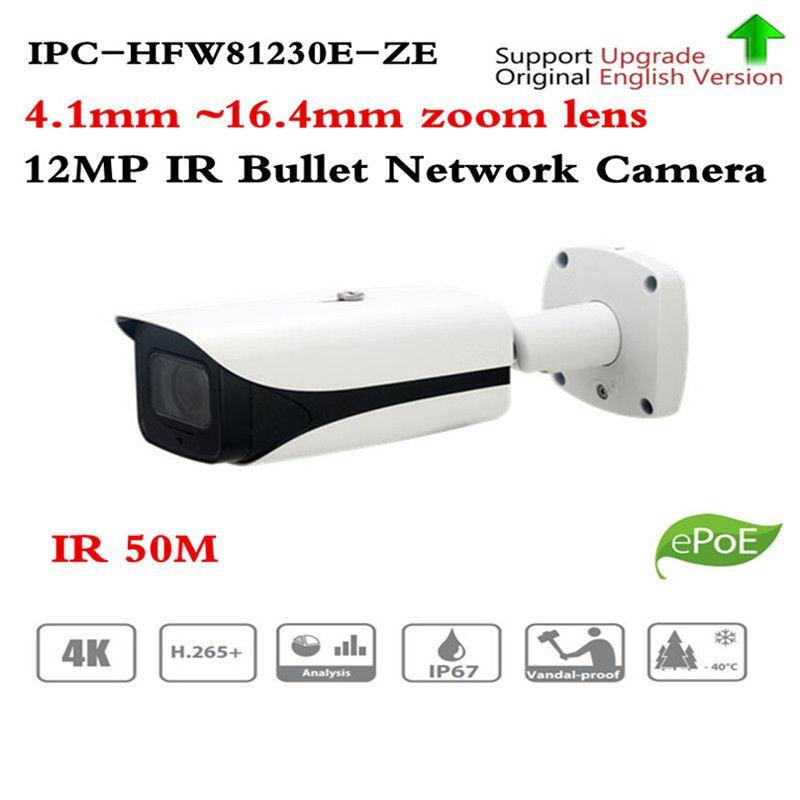 Original ahua IPC-HFW81230E-Z 4 karat ip kamera Ultra HD Super 12MP IP Kamera 50 meter nightvision IPC-HFW81230E-ZE HFW81230E-Z