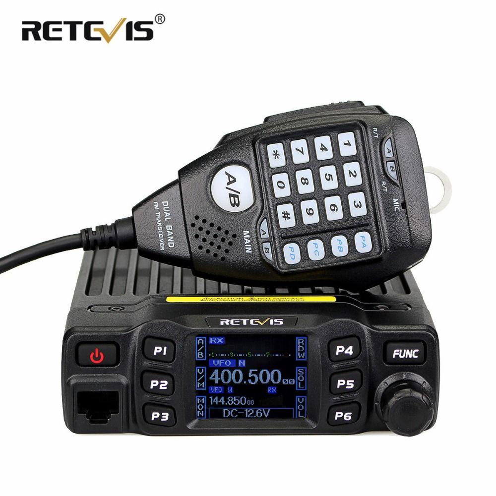 RETEVIS RT95 Car Mobile Radio Walkie Talkie TFT LCD display 25W VHF UHF Dual Band Two Way Radio Amador Ham Radio Transceiver+MIC