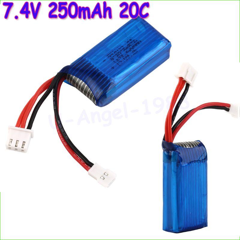 2 teile/los 7,4 V 250 mAh 20C 2 S Losi Micro SCT 1/24 Kurze karte Batterie Für Mini Fernbedienung Auto 1/24 Rc Mini hubschrauber